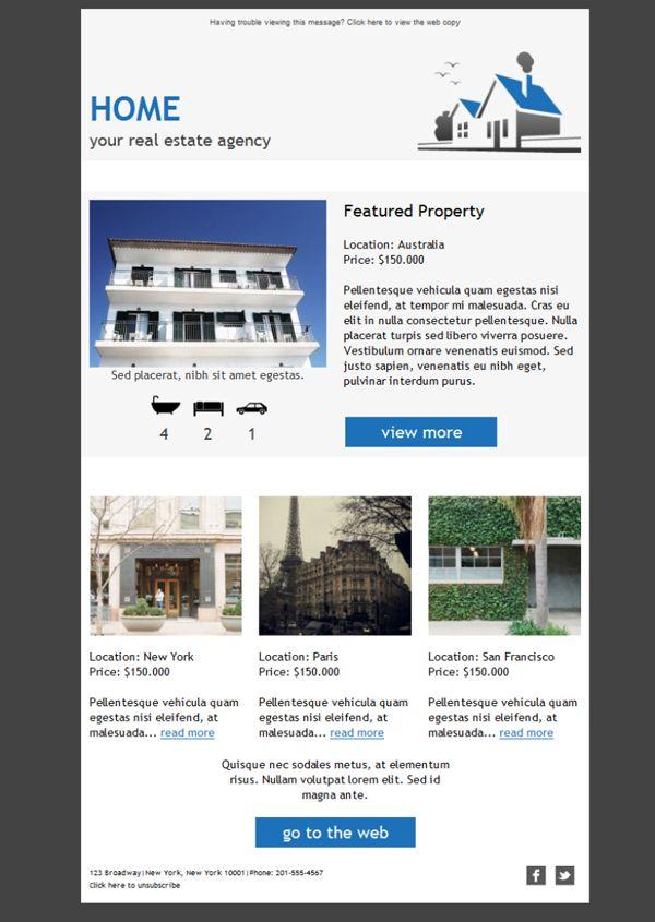 11 best HTML \ Responsive Templates images on Pinterest Website - real estate newsletter template