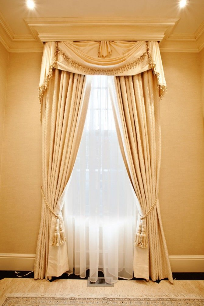 Attractive Gorgeous Curtain Ideas For Practical Reason: Luxury Chic Classic  Contemporary Cream Color Practical Curtain Ideas