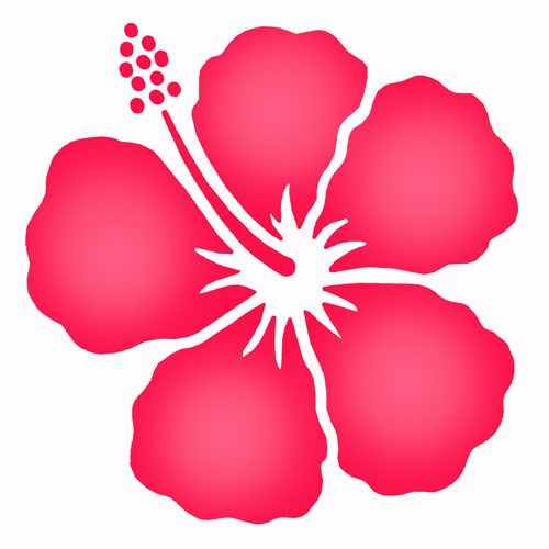 Printable Stencils Designs Swirls | simple hibiscus stencil shaded from the stencil studio