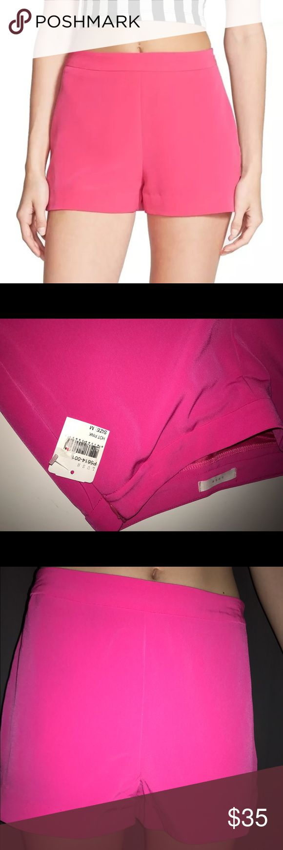 Lush M Bright Hot Pink Shorts Size M, new in size 1 size S fits me better the M is a little loose. Probably good for a 3-5 or so Lush Shorts