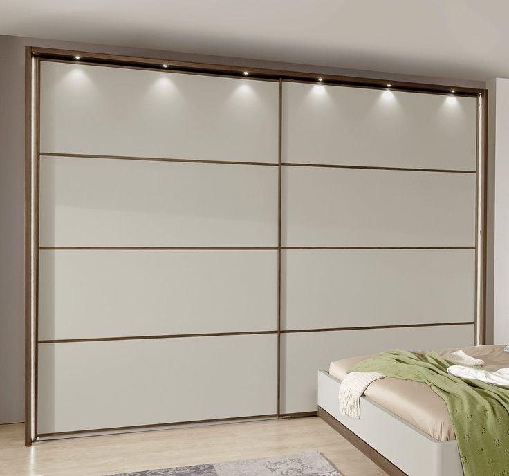 Schwebetüren-Kleiderschrank Patiala mit LED-Beleuchtung
