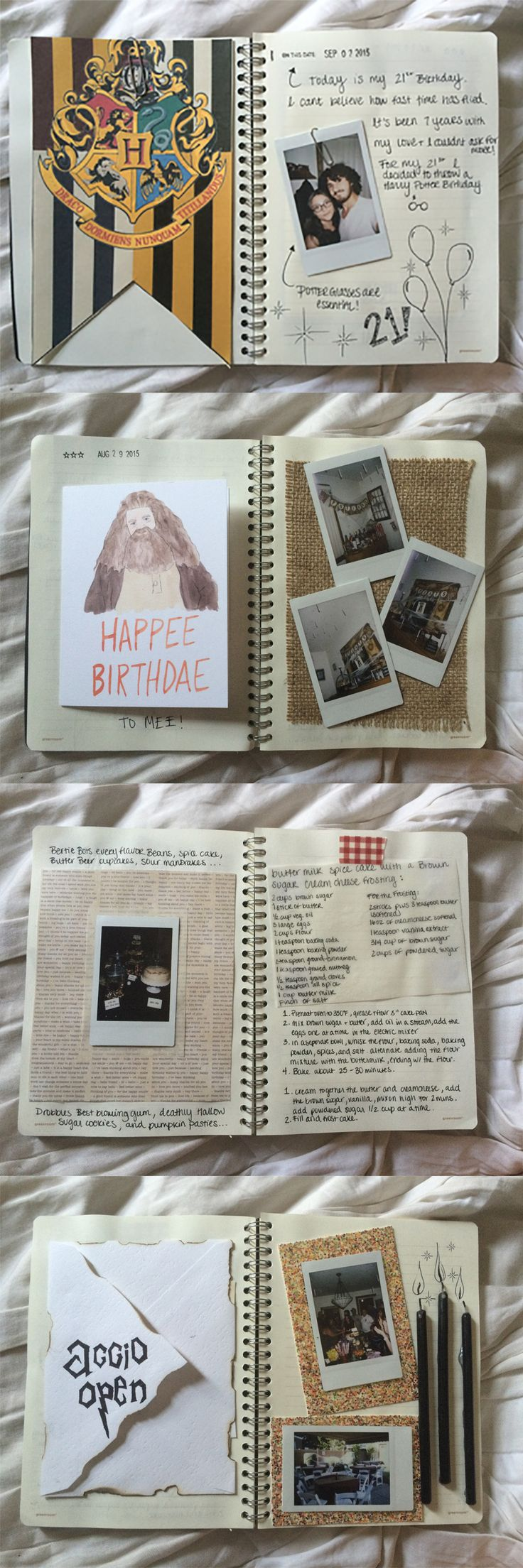 Scrapbook paper england theme - 9 2 15 For My 21st Birthday I Threw A Harry Potter Themed