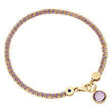 Buy Astley Clarke Biography 18ct Gold Vermeil Woven Friendship Bracelet Online at johnlewis.com