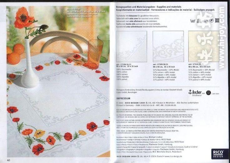 kanaviçe masa örtüleri modelleri