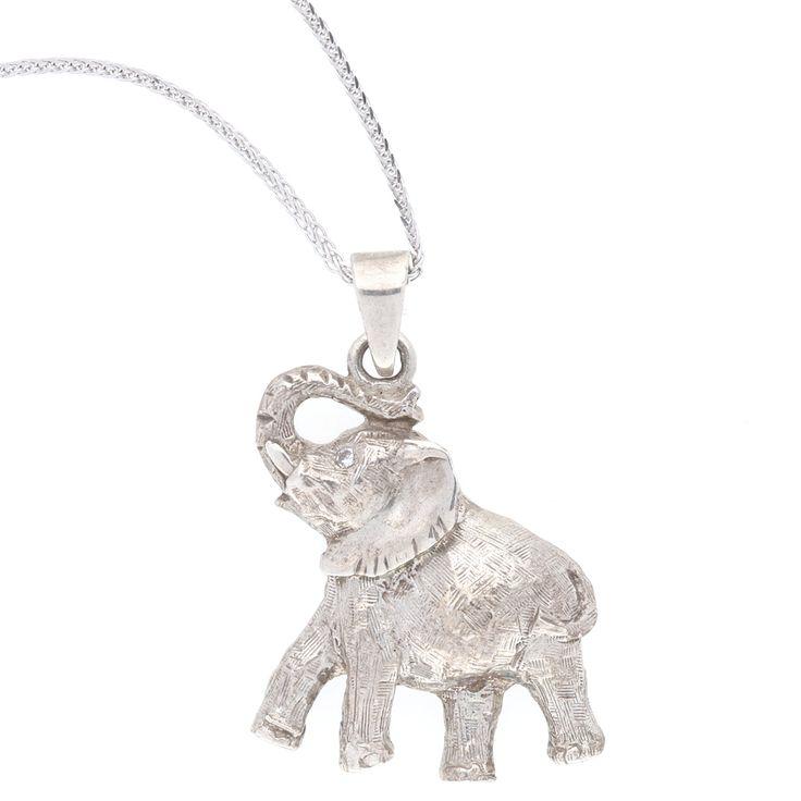 Silver Elephant Pendant.    www.uwekoetter.com
