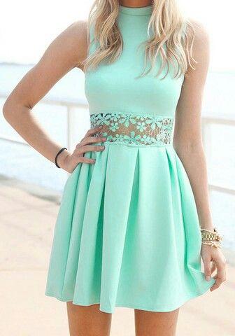 Vestido primavera green