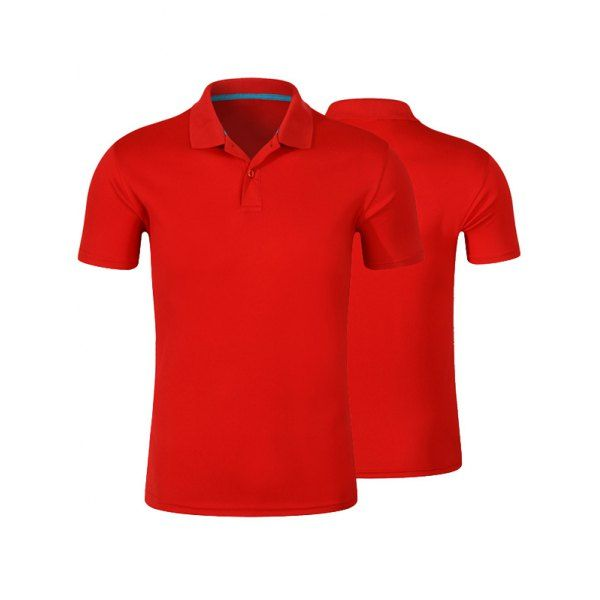 $8.26 Short Sleeve Polo Shirt - Red - 3xl