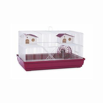 prevue Hendryx Deluxe Spacious, Snap - off Base Small Animal Hamster And Gerbil Cage, Color - Bordeaux Red