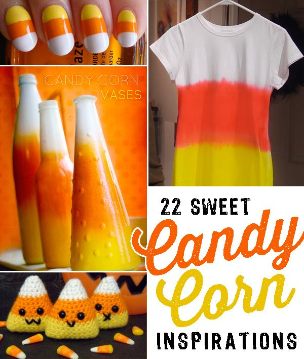 22 sweet candy corn inspirations halloween treatsdiy halloweenholidays halloweenhalloween projectscandy - Diy Halloween Projects