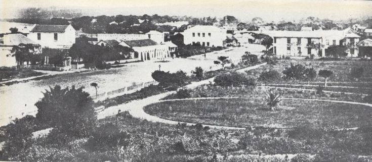 The Town Gardens, Farewell Square and a view of West Street, Durban, 1864