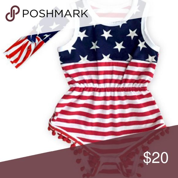 🐣Easter sale🐣4th July baby Girl romper New ready to ship One Pieces Bodysuits