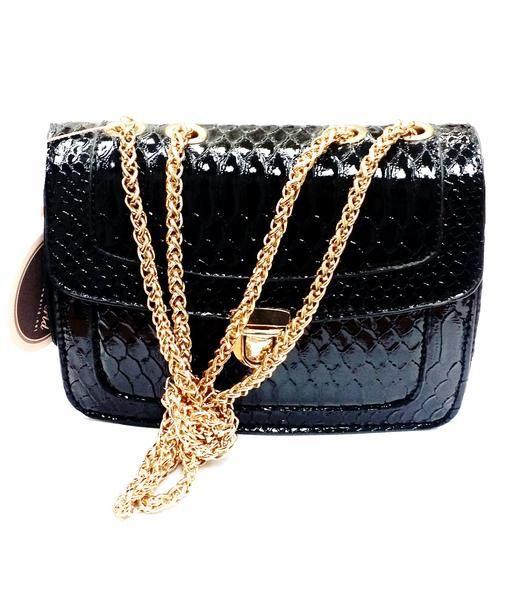 $29.99 - Small Black Pleather Cross-Body Bag