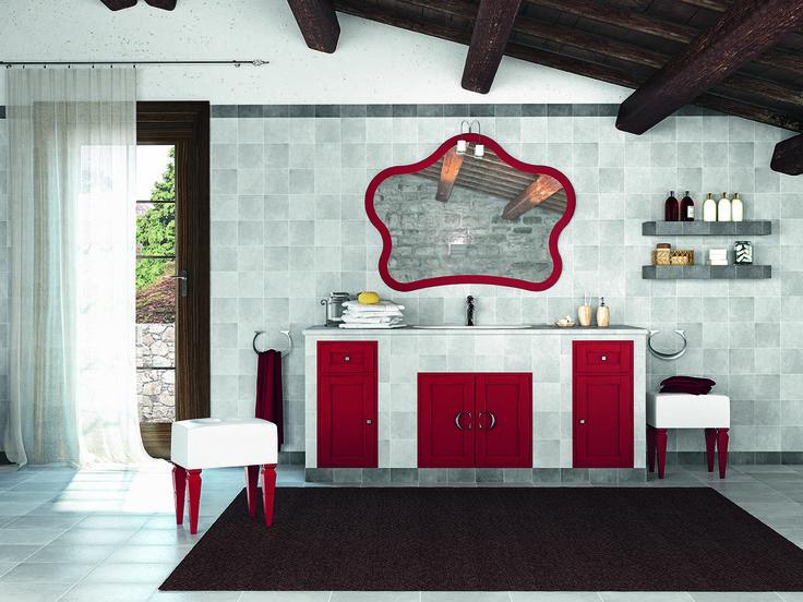 Piastrellabile con finitura essenza noce laccato rosso usurato http://www.cerasa.it/it_IT/bagni/classico/piastrellati/arredo-bagno_design-piastrellabile-anta-york-22-23