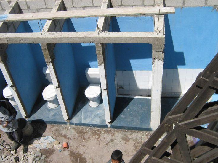 13 New toilets, refurbishing washrooms and adjacent courtyard