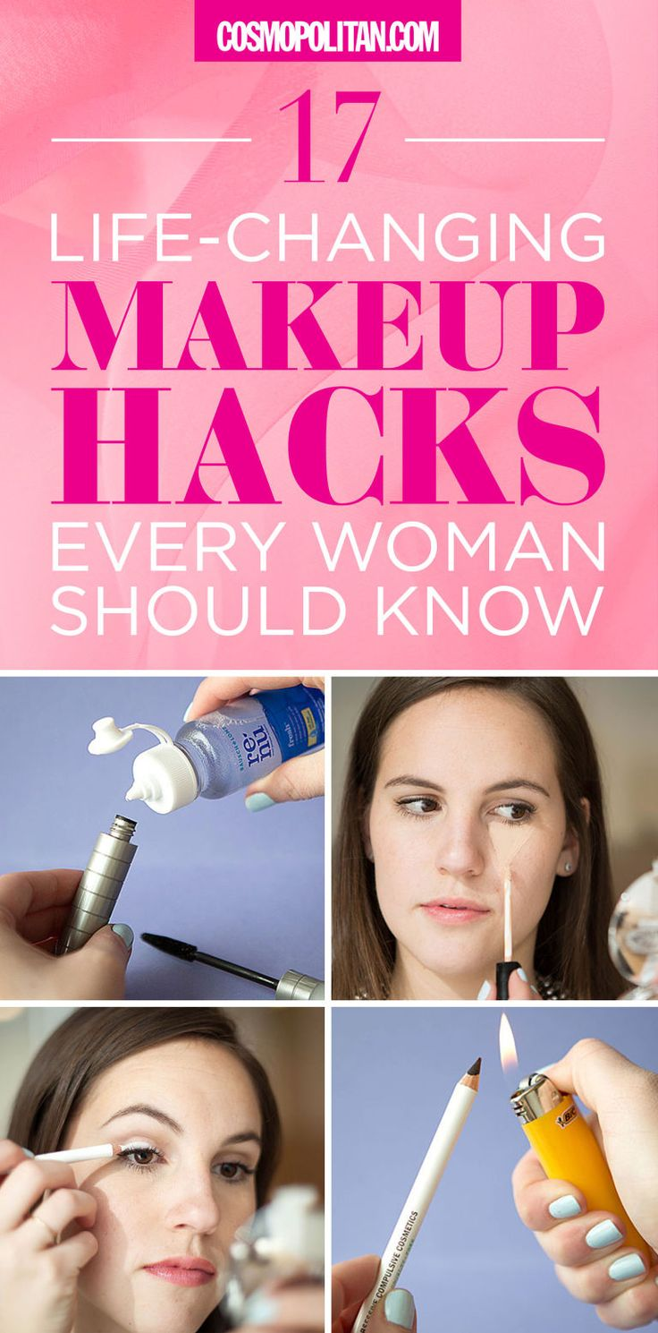 These aren't your average makeup tips and tricks. Check out these 17 life-changing makeup hacks!