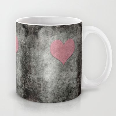 Valentines Grunge Love in Opal Pink Mug by Bruce Stanfield - $15.00