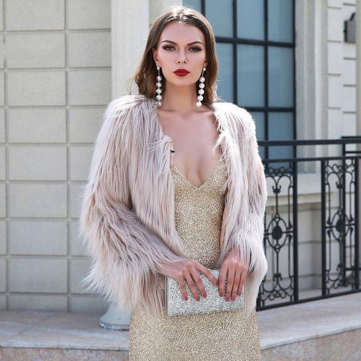 Fabulous Luxor Cream Faux Fur Jacket