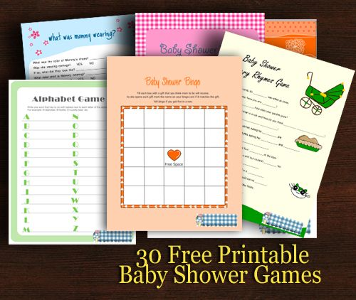 Free Printables Baby Shower Games: 30 Free Printable Baby Shower Games