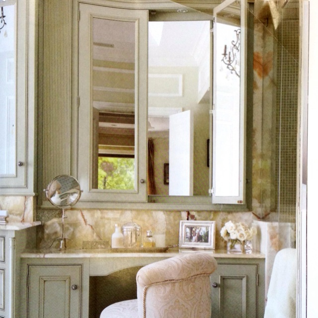 Web Image Gallery Like this vanity in master bath Hidden way mirror inside