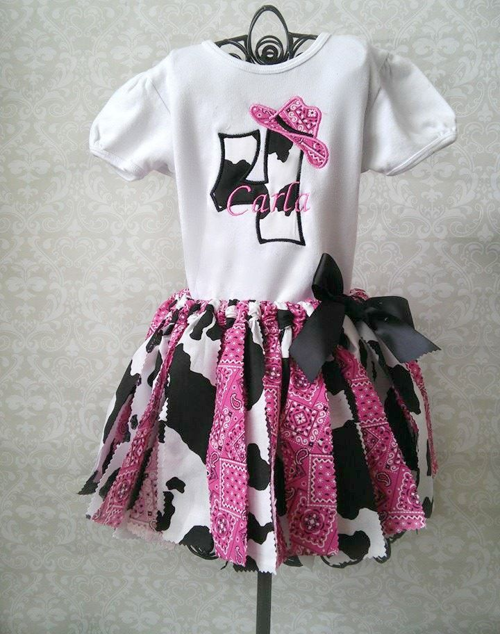 Cowgirl Tutu Outfit, Farm Party Tutu Outfit, 1st Birthday Outfit, Any Number On Shirt by GigglesandWiggles1 on Etsy