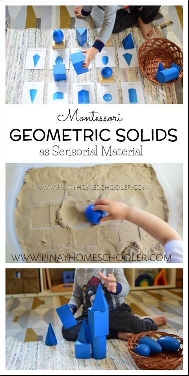 Using the Montessori geometric figures to learn about 3D objects