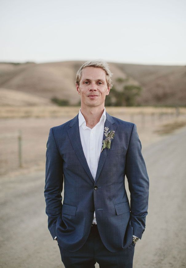 BETH + LUKE // #groom #suit #navy #shirt #notie #style # ...