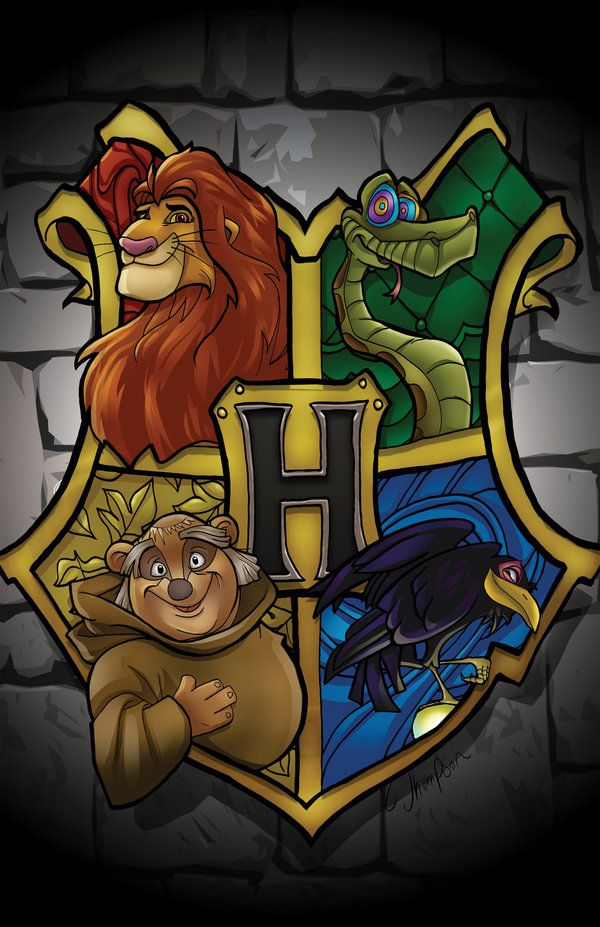 Hogwarts Disney Crest by CThompsonArt.deviantart.com on @DeviantArt