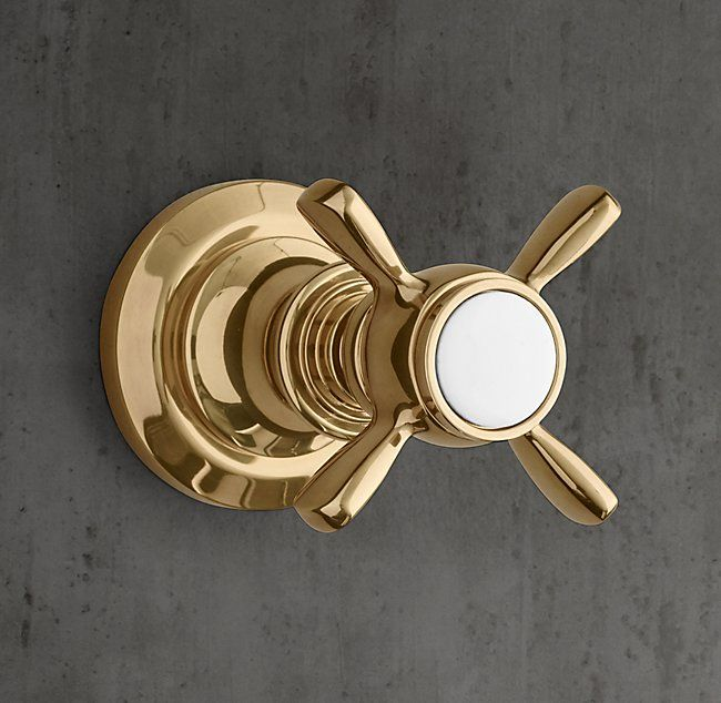 Lugarno Cross-Handle Flow Control Valve & Trim Set for Thermostatic Systems