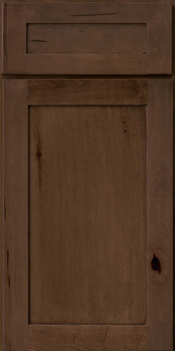 Door Detail - Square Recessed Panel - Veneer (AC7M) Rustic Maple in Saddle -