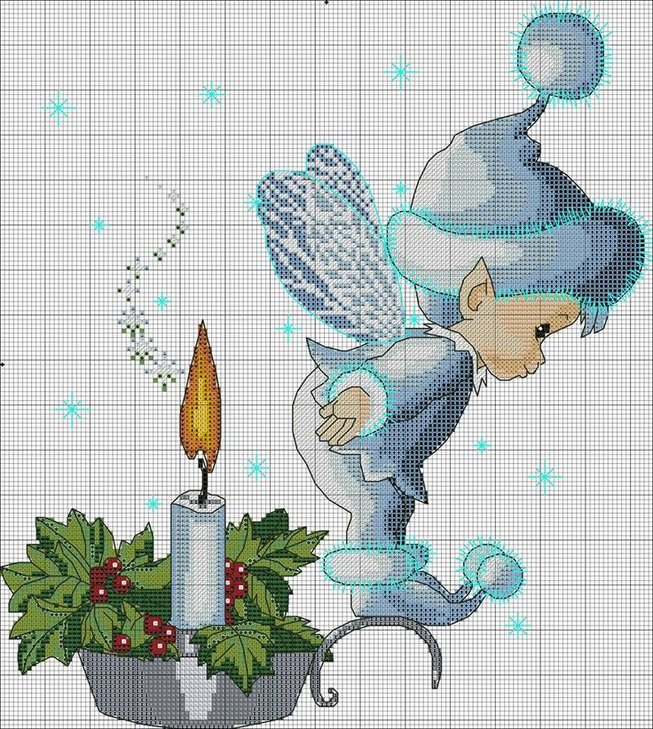 Christmas fairy cross-stitch