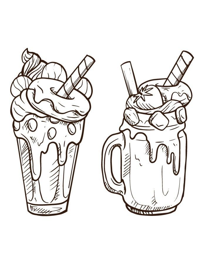 Pin On Delicieuse Page De Coloriage Nourriture Bouffe Dessert Coloring Page Food