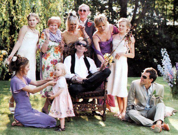 Anita, Keith, Marlon, Patti, Theodora, Alexandra ... Keith Richards Family