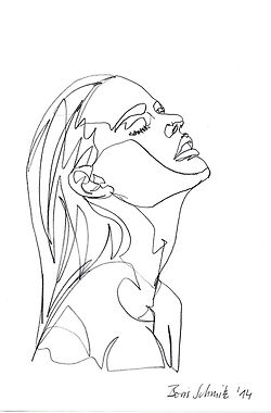 continuous line drawing portraits - Google Search