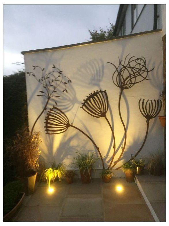 Pin By Valerie Malinverni On Patio S Gardens Outdoors Garden Wall Decor Garden Wall Outdoor Wall Decor