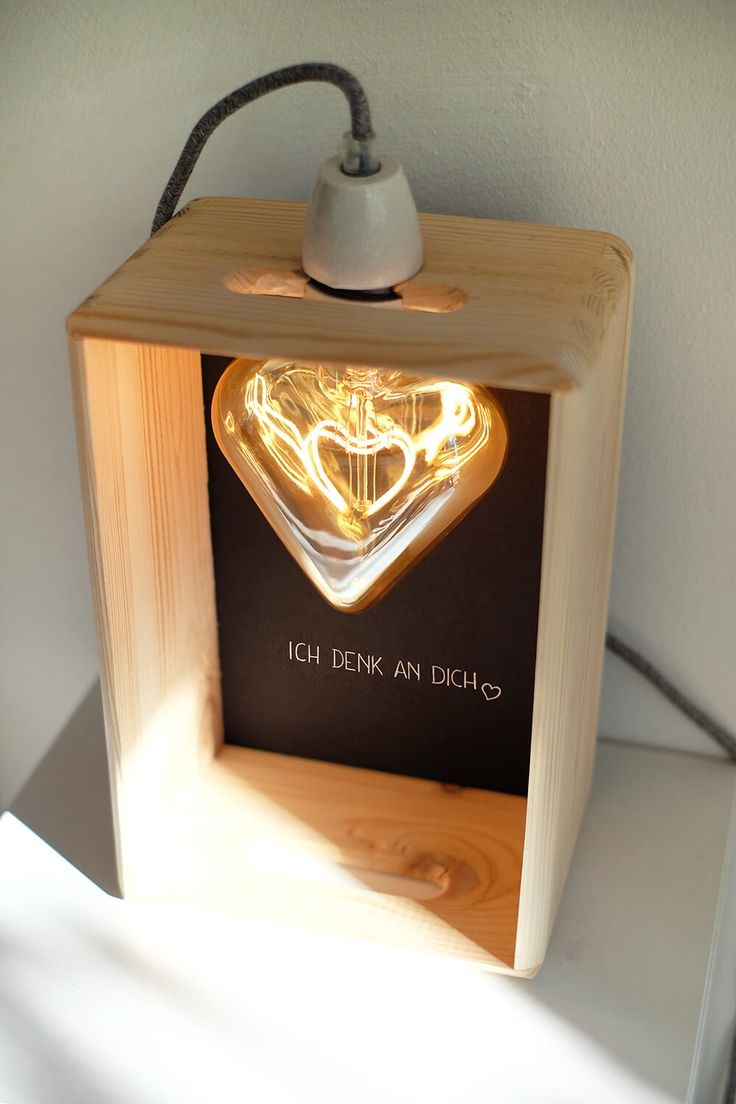 DIY LED light in heart shape as a gift for Mother's Day