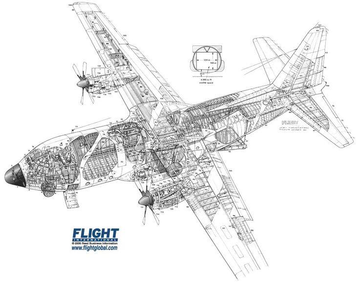 Lockheed L 400 Cutaway Air Cargo Aircraft Pinterest
