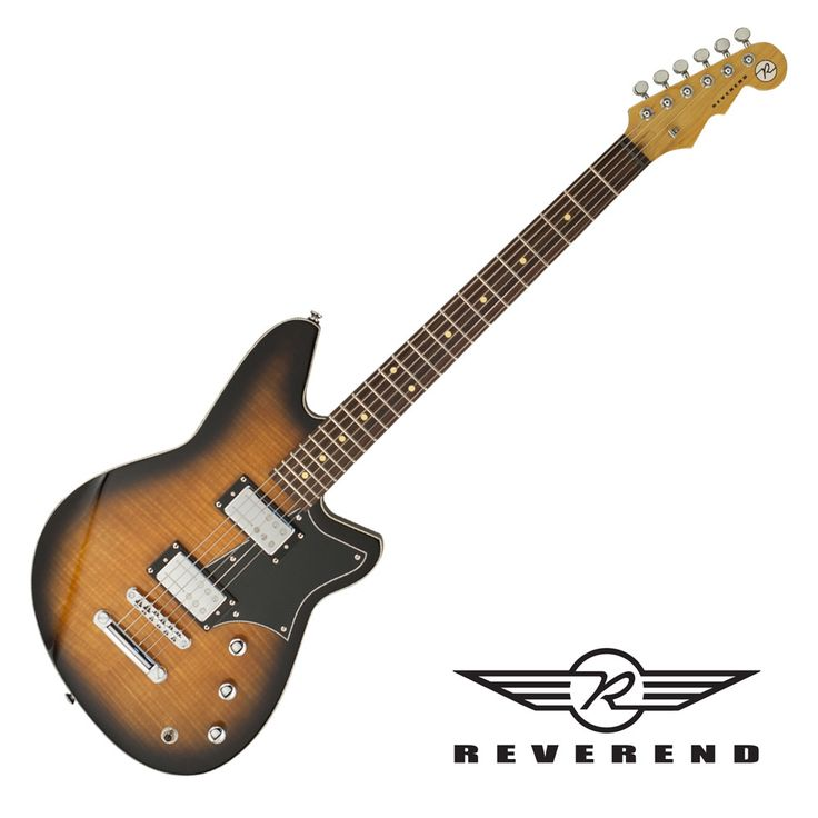 Reverend Descent RA Baritone Guitar - Coffee Burst Flame Maple