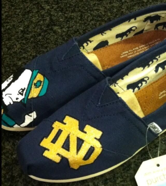 Notre Dame TOMS omg I need these shoes