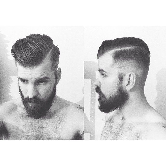 Haircut.                Classic undercut - tapered tight....super handsome