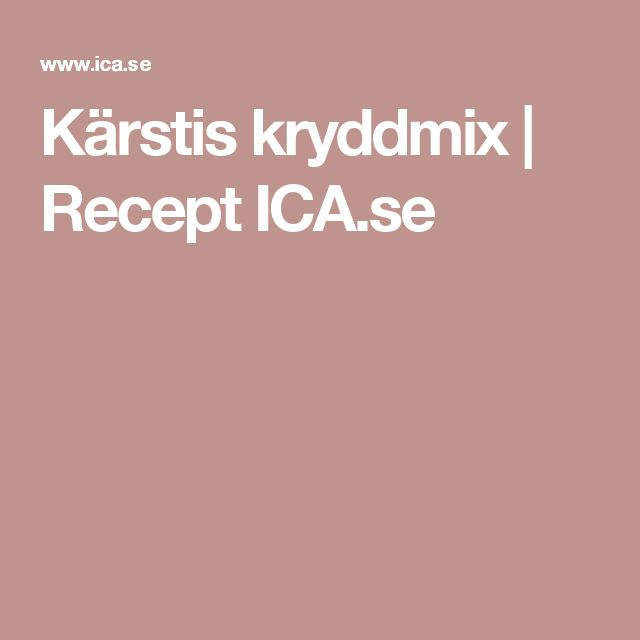Kärstis kryddmix | Recept ICA.se