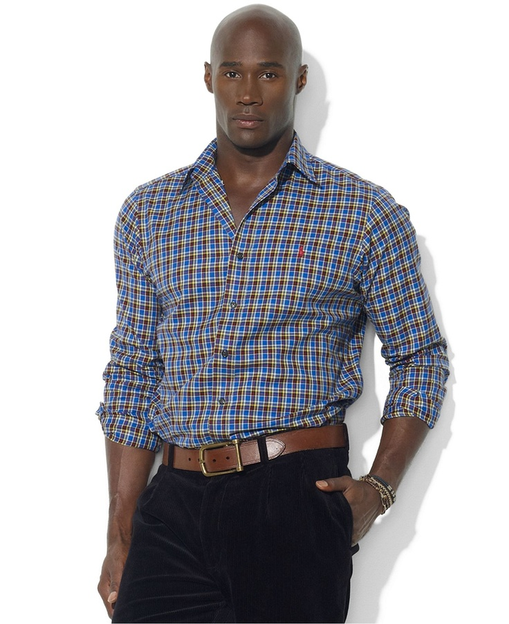 Polo Ralph Lauren Big and Tall Shirt, Checkered Shirt - Shirts - Men - Macys