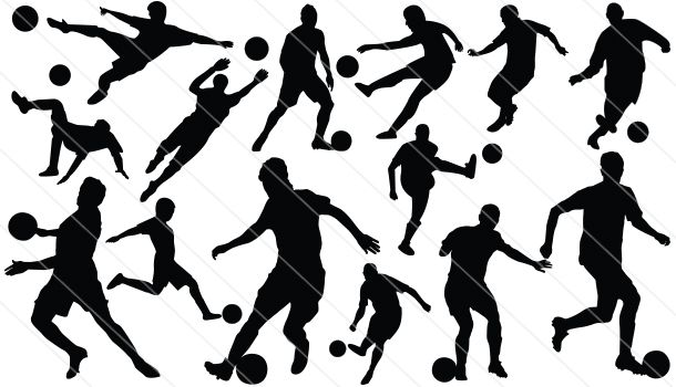 125 Sports Silhouette Vector Elements - Silhouette Vector Stock