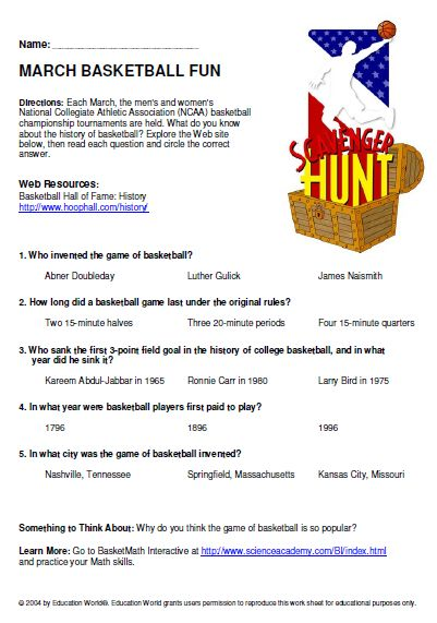 internet scavenger hunt This webquest / internet scavenger hunt is a perfect one day activity for middle schoolers to learn more about memorial day with these fun questions.