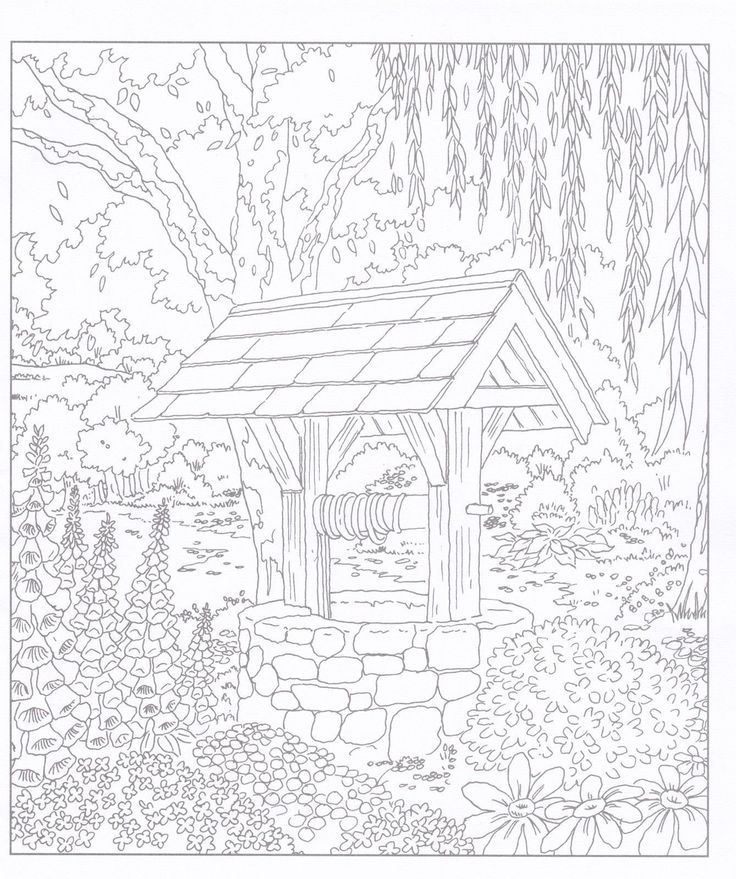 Village Life Adult Colouring Book Doodle Design New Country Rural Craft P B