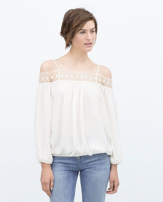 ZARA - NEW THIS WEEK - OFF-SHOULDER BLOUSE