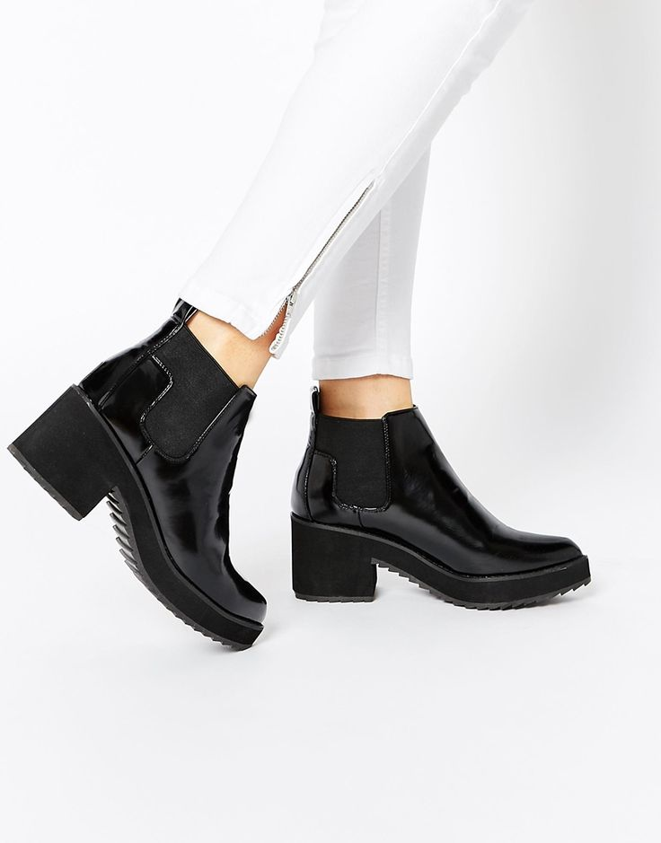 Image 1 ofASOS RISKY AND FRISKY Chelsea Ankle Boots