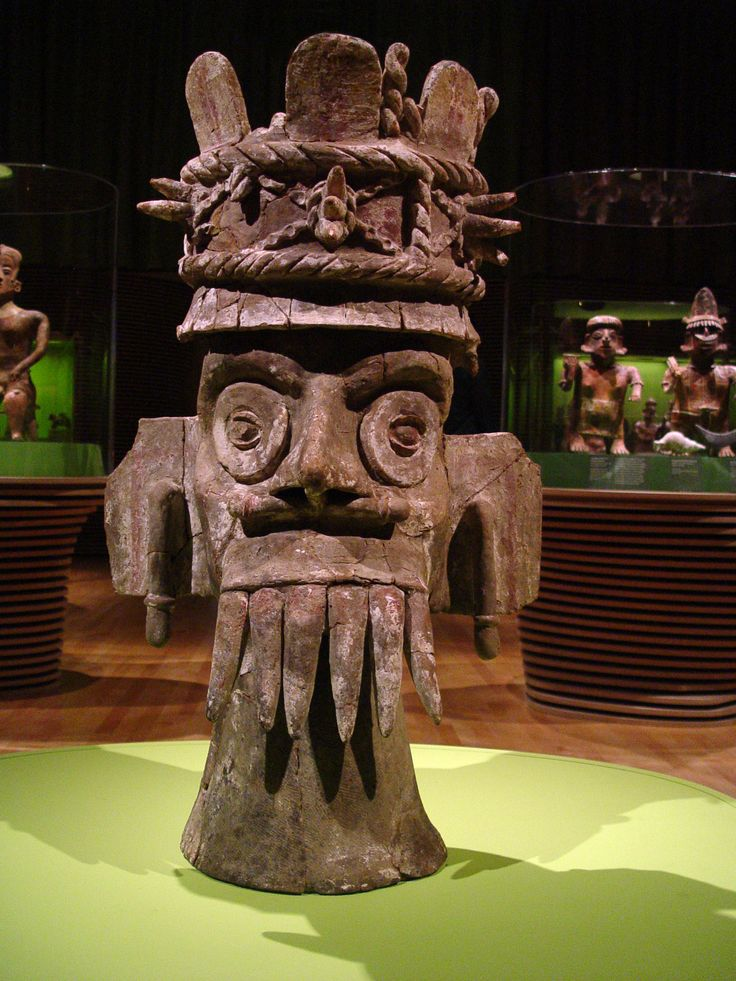 Censer Depicting Tlaloc, Ancient Pre-columbian ceramic, Mexico.    Photo taken by howcheng at the Los Angeles County Museum of Art