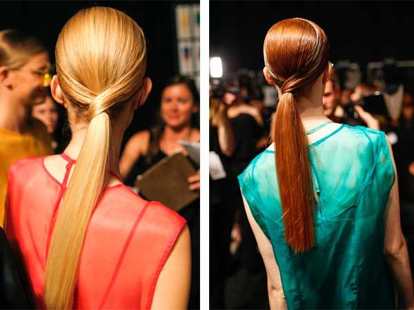 Spice up your ponytail for fall with this look from the Osklen SS2014 runway