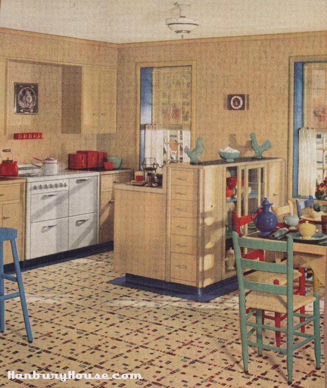 Retro Linoleum Kitchen Flooring: 268 Best Images About Crazy For Vintage Kitchens..or Just