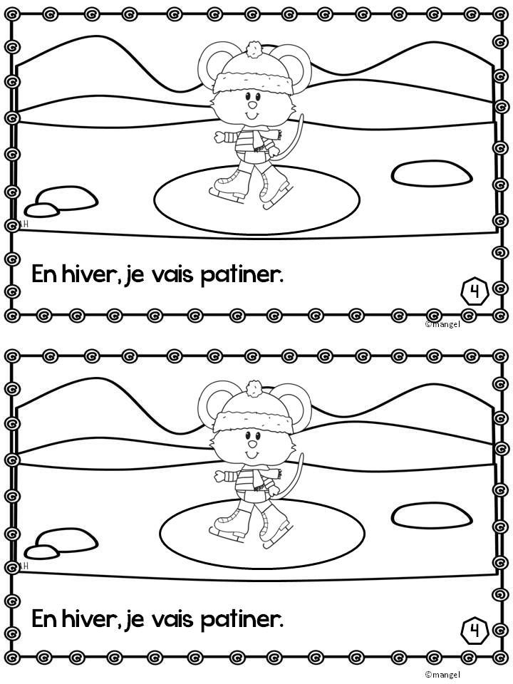 $ La Petite Souris - Written in the futur proche, this is a cute emergent reader in French featuring winter activities.